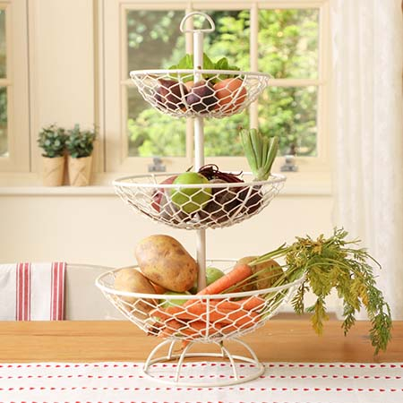 French Country Vegetable Racks