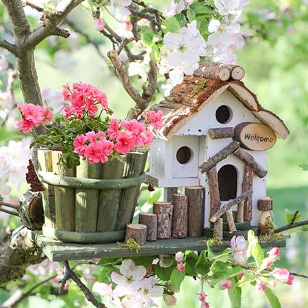 Rustic Bird Houses & Bird Boxes