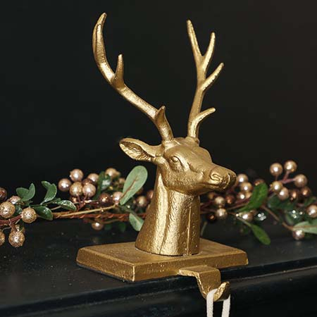 Cast Iron Christmas Stocking Holders
